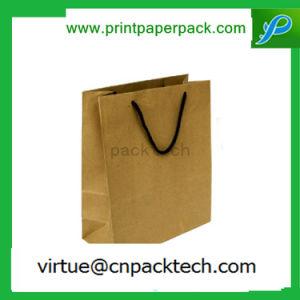 Sacchetto della carta kraft Di protezione dell'ambiente e di riciclaggio con la maniglia della corda