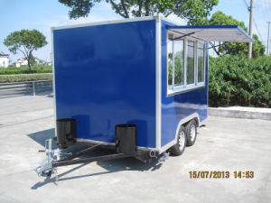 Grosse schiebendes Fenster-professionelle im Freien mobile Towable Nahrungsmittelkarren (SHJ-MFS300)