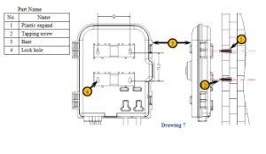 Terminal de puntos de verificación óptica pasiva -FTTHOpe-Ftt-H208