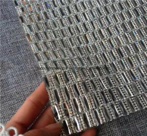 Het hete Blad van het Netwerk van het Bergkristal van de Broodjes van het Netwerk van het Bergkristal van Strass van de Moeilijke situatie In orde makende (tM-Rechthoek 7*15mm)