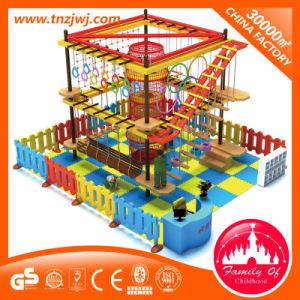 De binnendie Speelplaats van de Kinderen van de Cursussen van de Kabel voor het Beklimmen wordt geplaatst