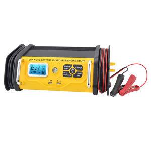 Visor LCD 30um carregador de bateria Inteligente com 75A Arranque do motor
