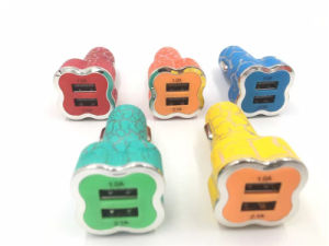 Teléfono de doble puerto Mobible Accesorios de viaje USB Cargador de coche