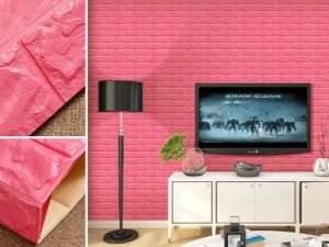 Papel de Parede 3D removível XPE parede de tijolos de espuma autocolante Decoração