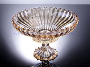 Máquina de âmbar pressionado Placa de vidro com pedestal da base da bandeja da placa de louça de vidro
