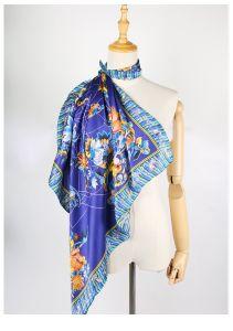 花のカスタム絹のスカーフの工場直接デジタルプリント