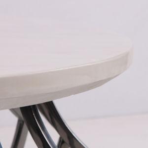 Base de acero inoxidable desplegada juego de comedor Muebles modernos.
