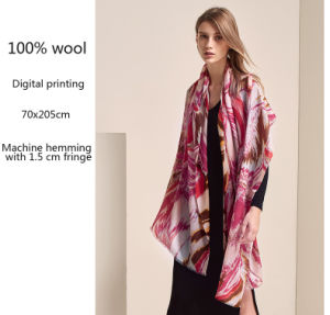 Het digitale Ontwerp van de Douane van de Druk Dame Wool Scarf