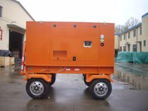 타이란드 시장을%s 30kw 이동할 수 있는 트레일러에 의하여 거치되는 디젤 엔진 발전기