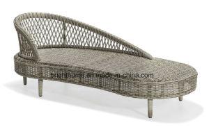 Textilene 놓이는 현대 안뜰 정원 등나무 옥외 가구 수지 고리 버들 세공 소파 (BP-8108D)