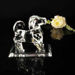 Modelo perro Crystal Craft para el 2016 Regalo de cristal