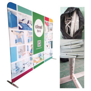 Feria de Muestras de tejido de tensión de la publicidad como telón de fondo de pantalla de Banner