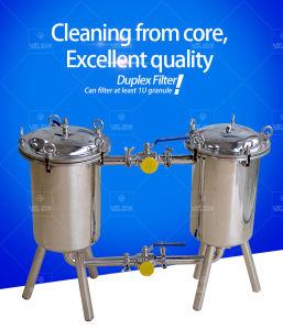 Erogatore industriale dell'acqua dell'acciaio inossidabile del filtro a sacco duplex