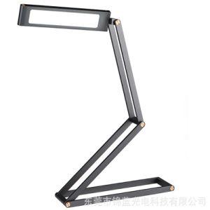 Gira 360 grados de metal plegable LED Lámpara de mesa