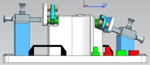 고무 호스 회의를 위한 측정 공구를 가공하는 CNC