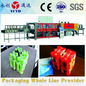 (YCBS130)film retráctil de la máquina de embalaje para el consumo de bebidas de la primavera de la industria de embalaje botellas de agua con gas