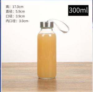Glasgetränkeflasche des wasser-250ml mit Edelstahl-Schutzkappe