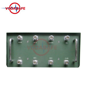 Raggio del coperchio dell'uscita Power50-100m di watt di /Blocker CDMA/GSM/3G2100MHz/4glte Cellphone/VHF/UHF Radio120 dell'emittente di disturbo di Manpack di alto potere dell'emittente di disturbo di Conoy