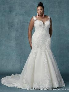 ba642f3363 Además de tamaño personalizado de trajes de novia de encaje de sirena  vestido de novia 2019
