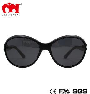 流行のレトロの楕円形のプラスチック女性のサングラス(WSP8040230)