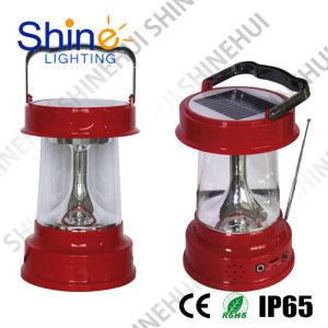 2015 Venta de LED Linterna Solar Radio portátil con reproductor de MP3
