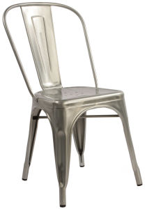 高い背部レストランのスタック可能食事のTolixの椅子(FS-D500)