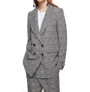 La moda femenina tejida de Color de traje Casual Plaid