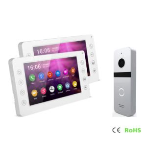 HDの通話装置のホームセキュリティーのインターホンメモリのビデオDoorphone 7インチの