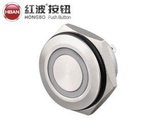IP67 16 мм металлический быстродействующий светодиодный мини-шорты с кольцевым разъемом и самовозвратом Кнопочный переключатель микротактов кузова