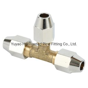 Latão de alta qualidade/Mangueira/tubo em T 6 mm