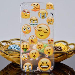 Мультфильм мягкая подошва из термопластичного полиуретана крышку телефона Emoji чехол для iPhone