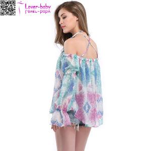 Las mujeres de la moda Floral vestido de Chiffon Playa TY1020