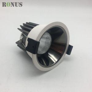 COB LED spotlight réflecteur Electroplate 7-12W Lampe de projecteur de plafond Éclairage intérieur Downlight