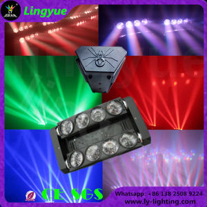 8X12W RGBWの段階LEDのビームRGBくもの移動ヘッド