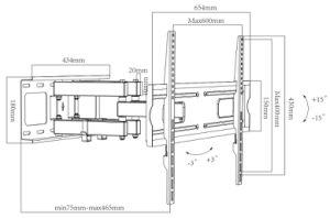 32  - 70  크기 텔레비젼 부류 (CT-WPLB-8103L)