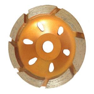 7 segmenti che frantumano la rotella della tazza 4 disco stridente stridente della lamierina 100mm di pollice