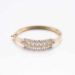 ローズの金のPlatdのジルコン亜鉛合金の腕輪