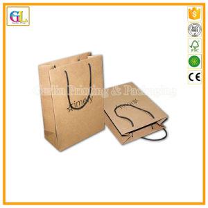 Kundenspezifischer Papierträger-Beutel im braunen Packpapier mit Papierzeichenkette