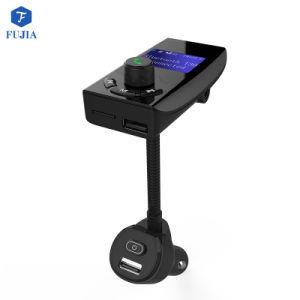 Transmisor FM Bluetooth Adaptador de radio inalámbrica Kit manos libres para coche con 1,44 pulgadas de pantalla Smart 2.4A QC3.0 y dos puertos USB Aux Input/Output TF COCHE