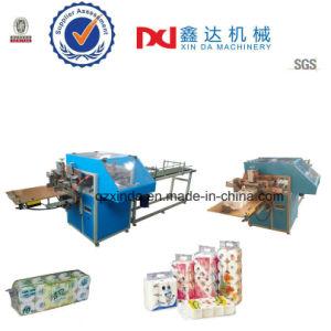 Cuarto de baño semiautomática rollo papel higiénico de la máquina de paquete sellado