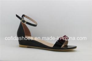 L'été style populaire Lady sandale de filtre en coin avec Sweet Bow