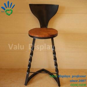 La fabbrica direttamente fornisce la presidenza della barra della sede di legno solido di base metallica