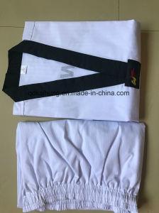 あや織りのTaekwondoのユニフォーム、Wtfのユニフォーム