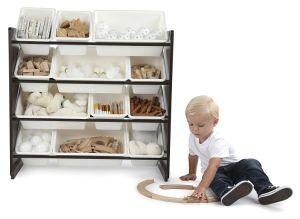 12의 플라스틱 궤를 가진 아이들 장난감 저장 유치원 가구