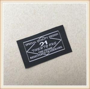 Personalizar satinado Nueva etiqueta tejida para prendas de vestir