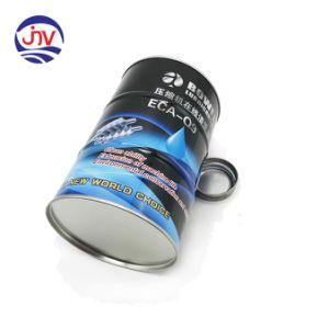 1L Microstome tambor metálico a personalização do logotipo de impressão