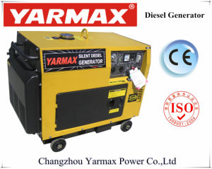 Inizio elettrico 5.5kVA 6.5kVA di iso del generatore di Yarmax di potere del generatore del Ce portatile diesel del motore diesel