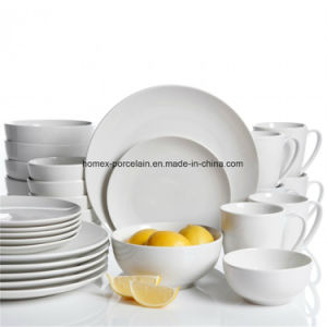 高品質のホテルのための白い陶磁器の磁器の夕食製品