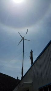Turbina di vento di nylon di rinforzo alternatore a magnete permanente di Hawt delle lamierine della fibra di Dg-Ec-10kw