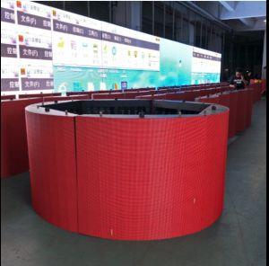 P5 Curva interior em cores de publicidade/Display LED do Cilindro